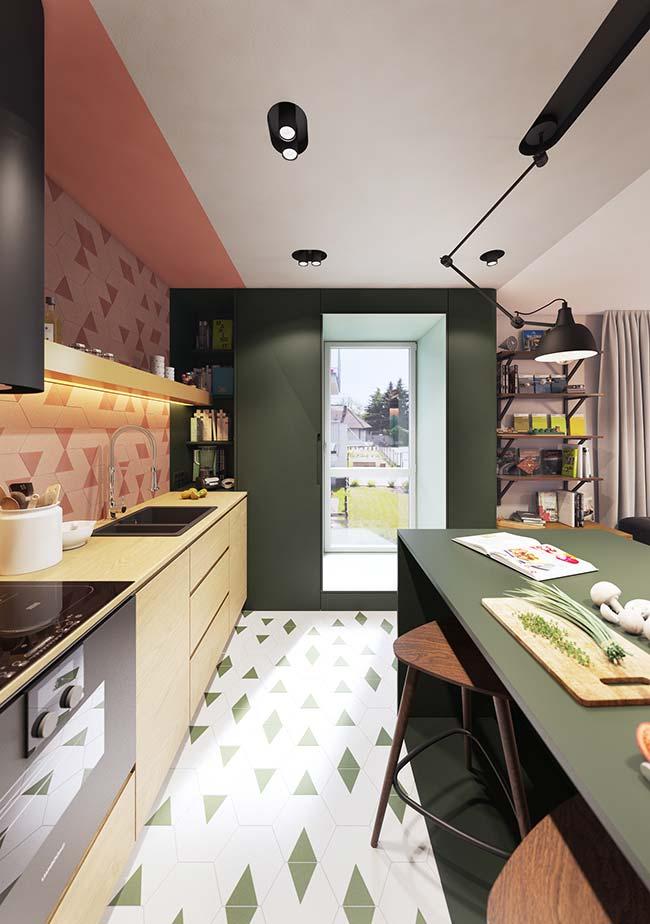 Então você pode apostar no verde musgo e criar uma decor original no apartamento decorado
