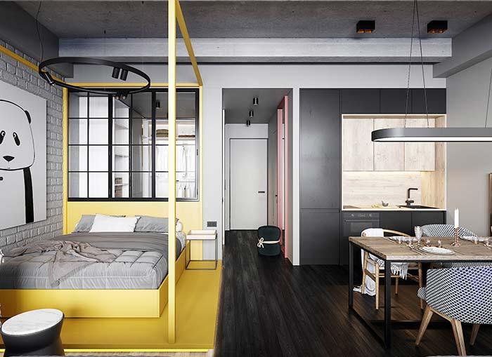 Apartamento decorado pequeno e moderno