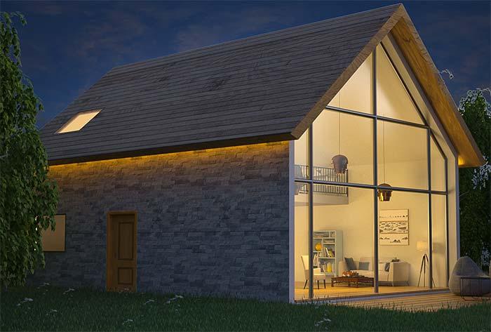 Fachada de casa com pedra miracema
