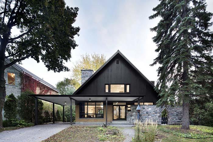 Fachada de casa com pedra: uma casinha de contos de fadas