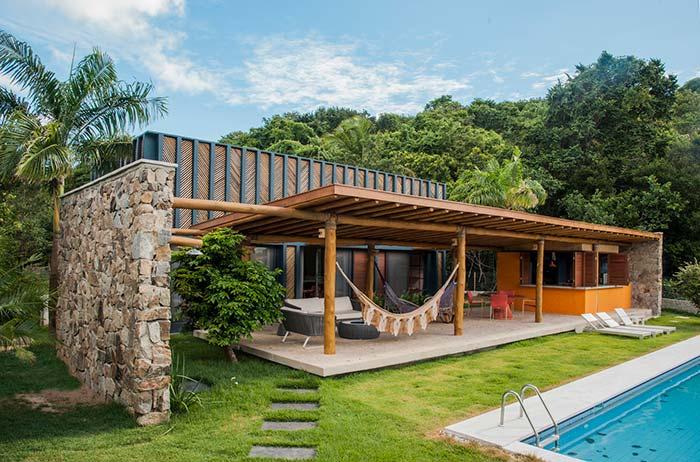 Fachadas de casas com pedras: incríveis modelos e como escolher a pedra ideal