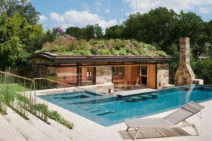 Ah, um telhado verde! Ideia genial que une beleza e sustentabilidade