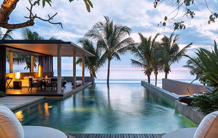 Edículas: flutuando sobre a água da piscina e com vista para o mar: essa edícula é puro encanto