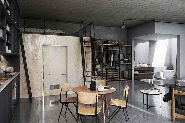 Ambientes integrados: outra característica marcante da decoração com estilo industrial