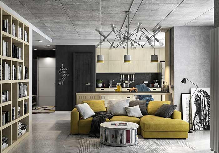 Ambientes integrados seguem padrão de cores e texturas