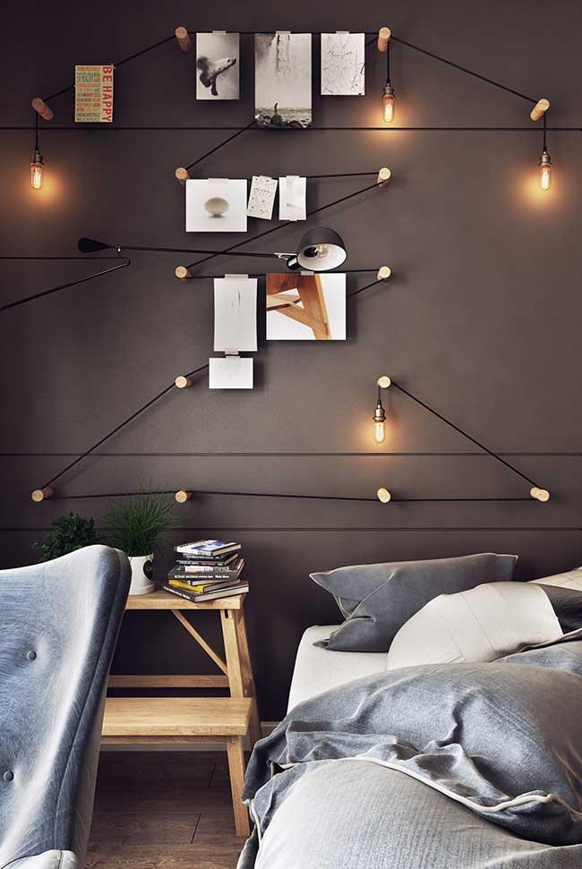 Lâmpadas conectadas diretamente à fiação: marca da decoração industrial