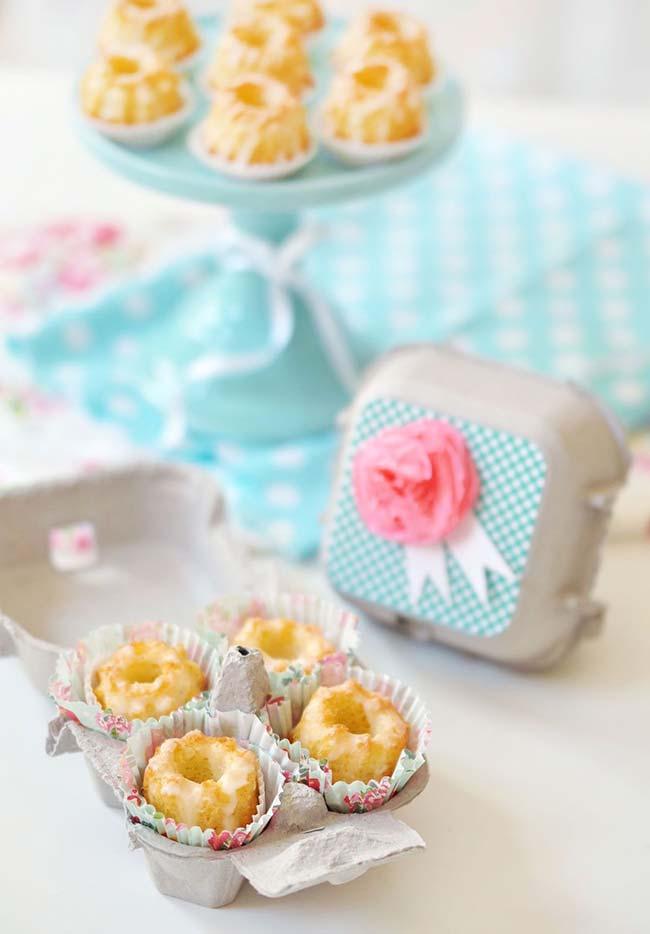 Lembrancinhas da festa podem ser entregues em embalagens de ovo