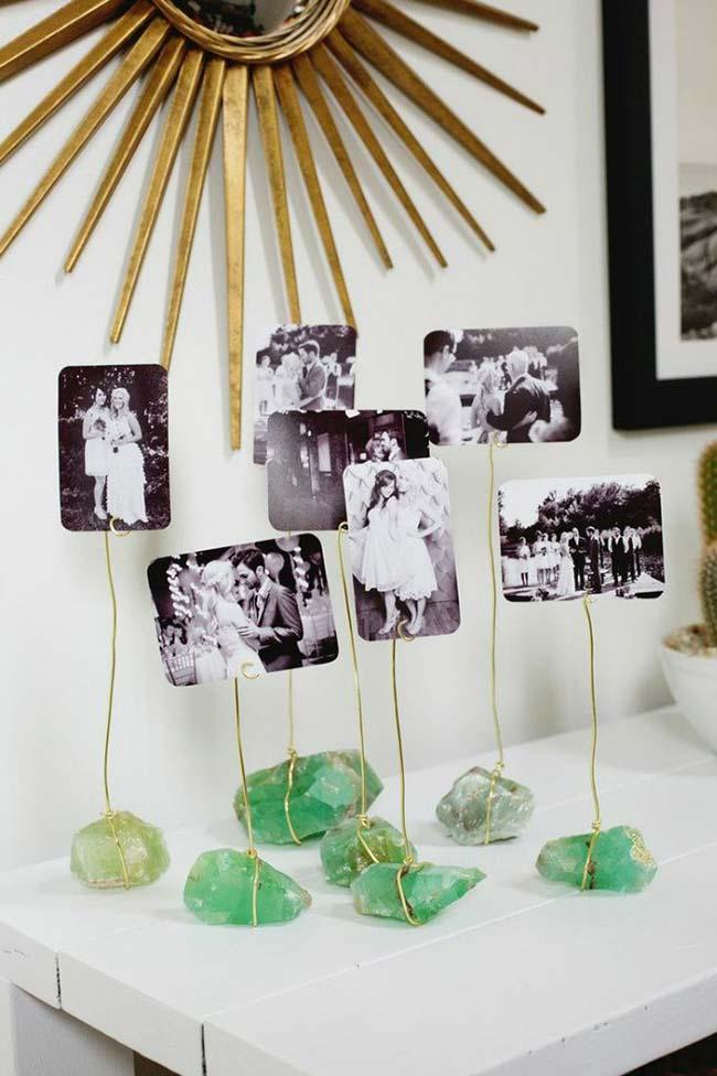 Artesanato em geral: apaixonados por pedras podem usá-las na decoração de outro modo