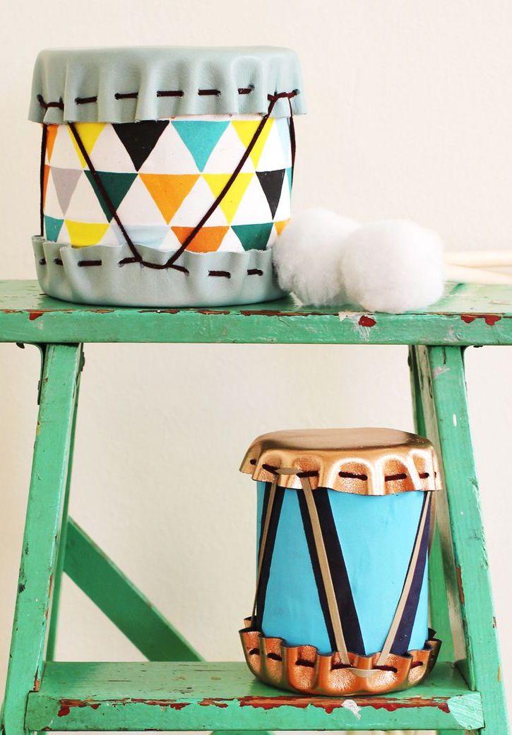 Artesanato em geral: Instrumentos musicais feitos com materiais recicláveis