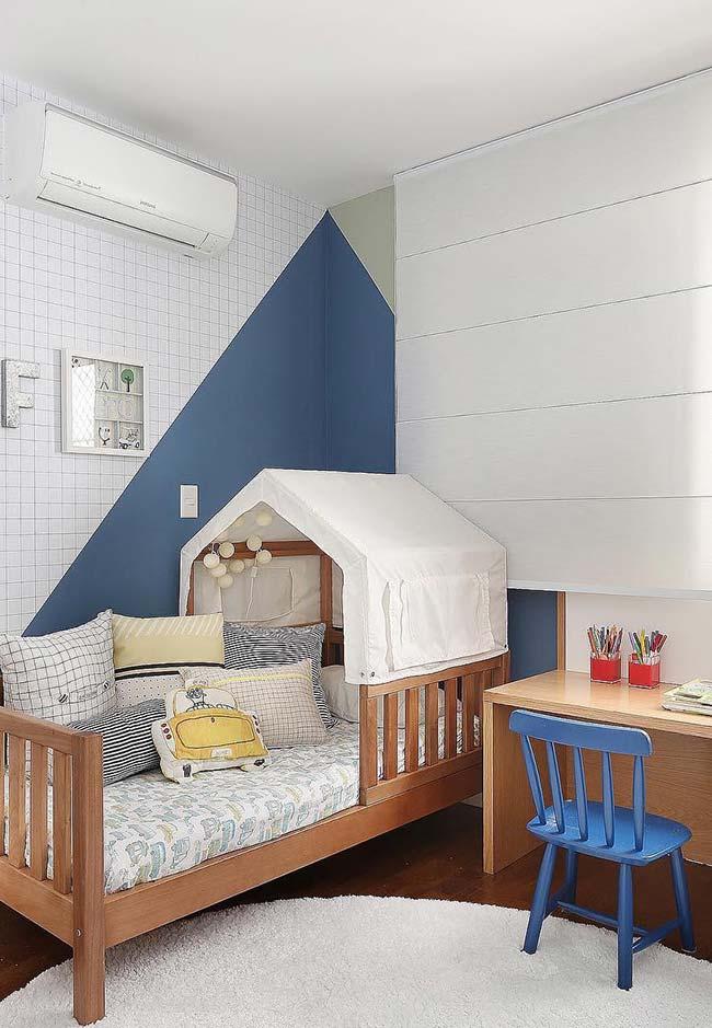 Persiana romana branca para o quarto infantil