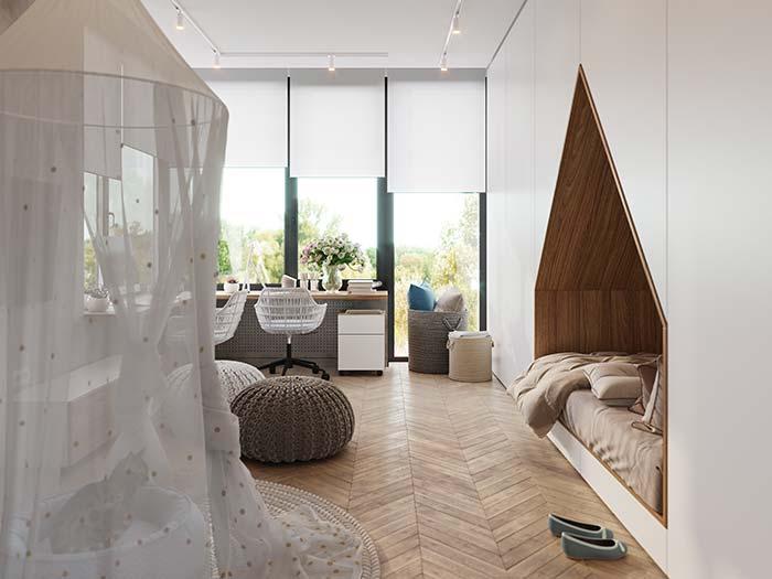Persiana para quarto de rolo: discreta, clean e moderna
