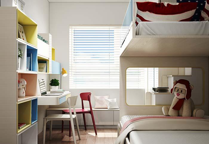 As persianas de quartos infantis não precisam se estender até o piso