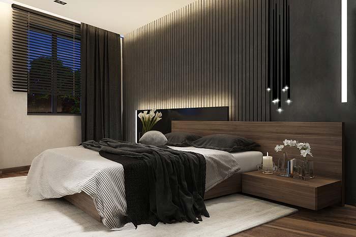 Persiana para quarto e cortina podem ser usadas de modo independente no quarto