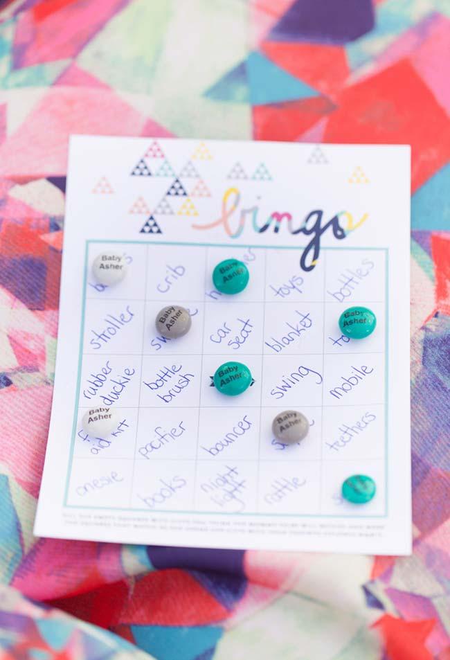 Bingo é um jogo para envolver os convidados de forma fácil e barata dentro do universo dos bebês