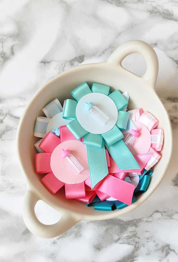 Lembrancinha para chá de bebê simples