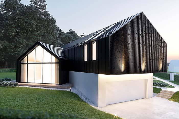 Casa pré-moldada de aço
