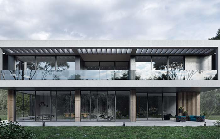 Com uma casa dessas não restam dúvidas de que as casas pré-moldadas podem se mostrar uma excelente opção arquitetônica também