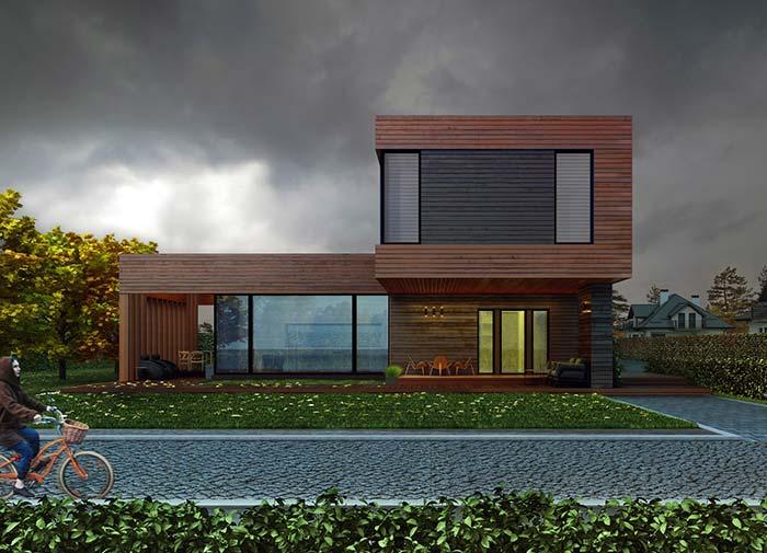 Casa pré-moldada de madeira