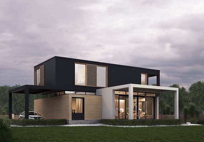 Casa pré-moldada com dois andares