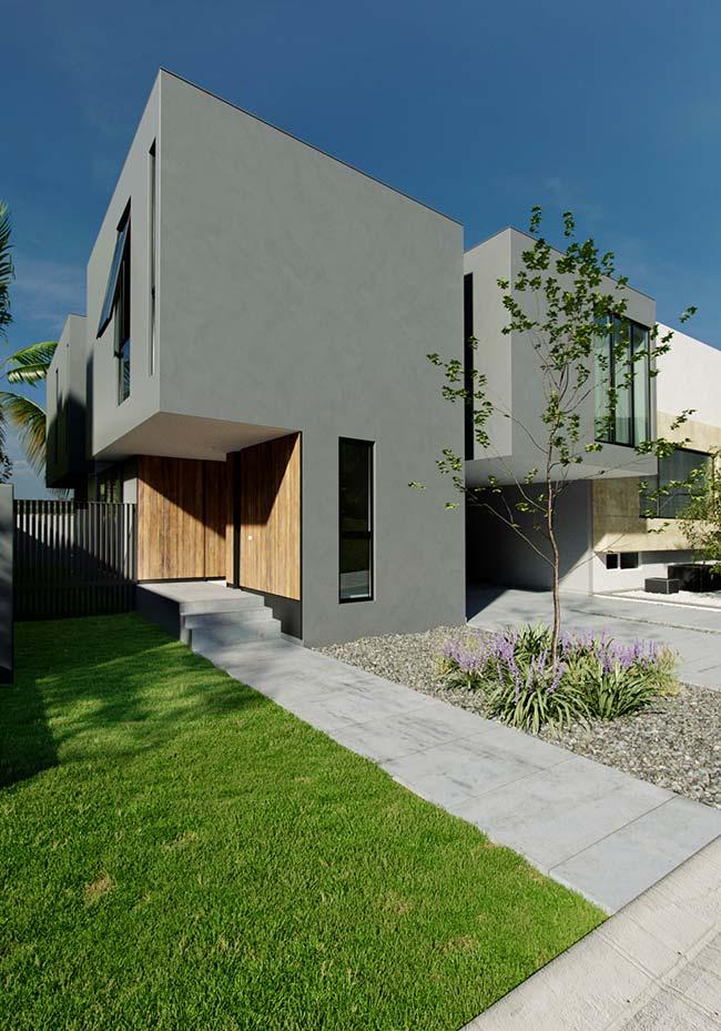 Casa pré-moldada de concreto possui mais opções de acabamento do que as de madeira