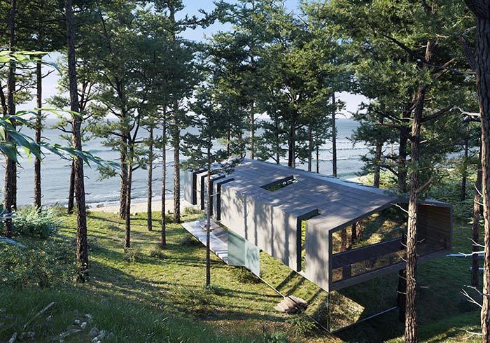Com vista para o mar: pensou em ter uma casa assim? Que maravilha