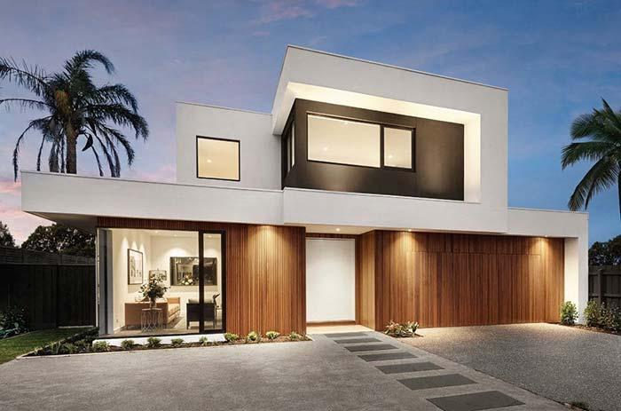 Arquitetura moderna e telhado embutido