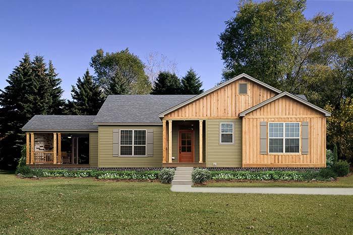 Um modelo típico e bem tradicional dos projetos de casas pré-moldadas