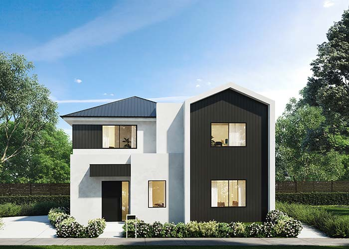 Casa pré-moldada entre o estilo clássico e o moderno
