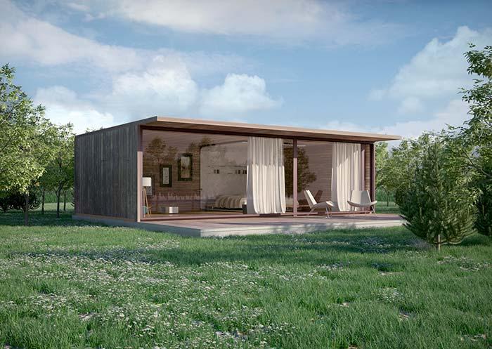 Pode ser uma casa, mas também pode ser apenas um local para descansar e relaxar
