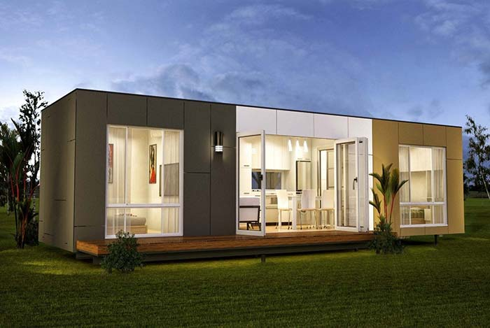 Casa container possui geralmente ambientes integrados e uma grande área ao ar livre