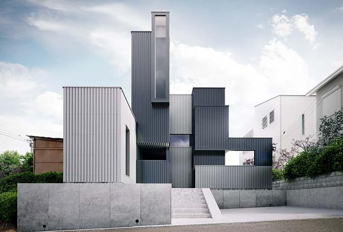 Uma casa pré-moldada para fugir totalmente dos padrões