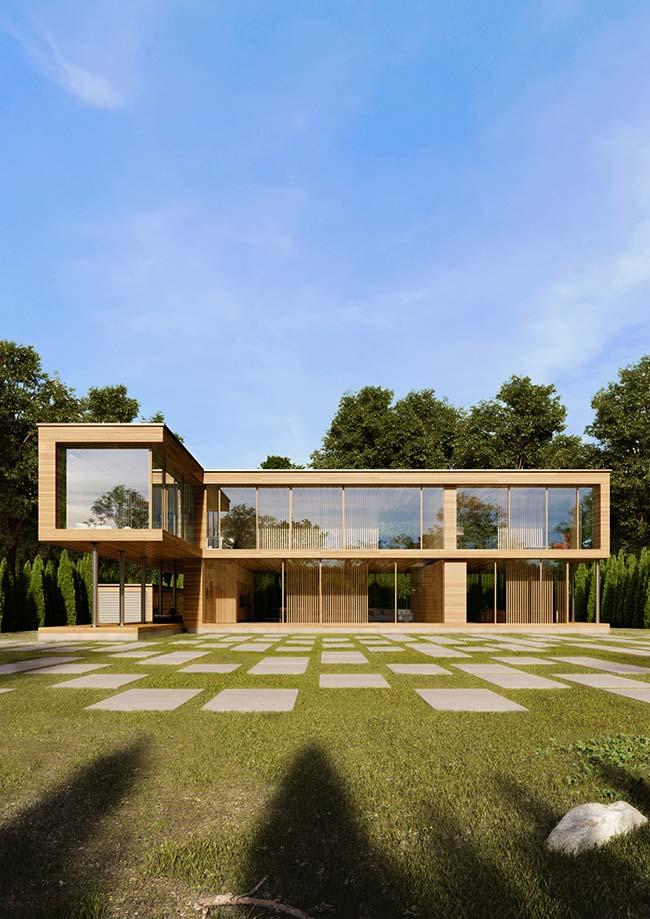 Casa pré-moldada com dois pavimentos