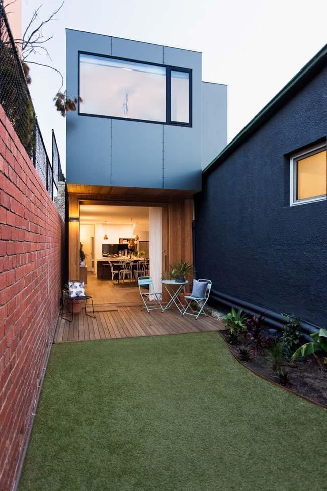 Alguns projetos de casas pré-moldadas incluem varanda