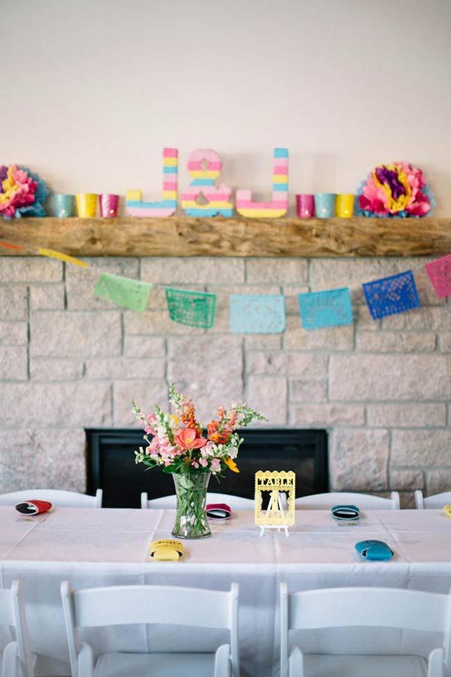 Casamento simples feito em casa