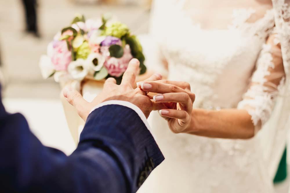 Cerimônia de casamento simples