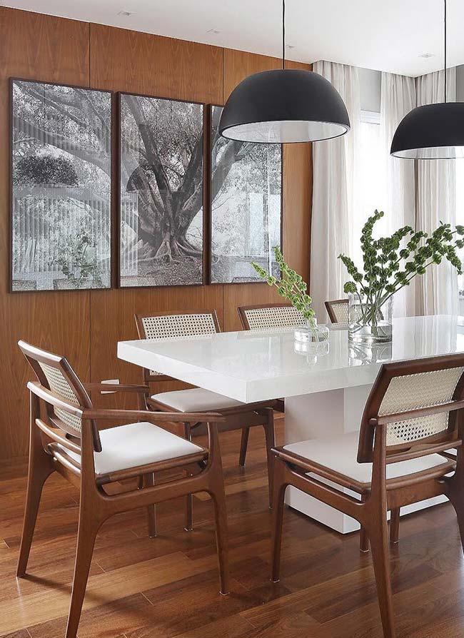 Decoração rústica chique para salas de jantar