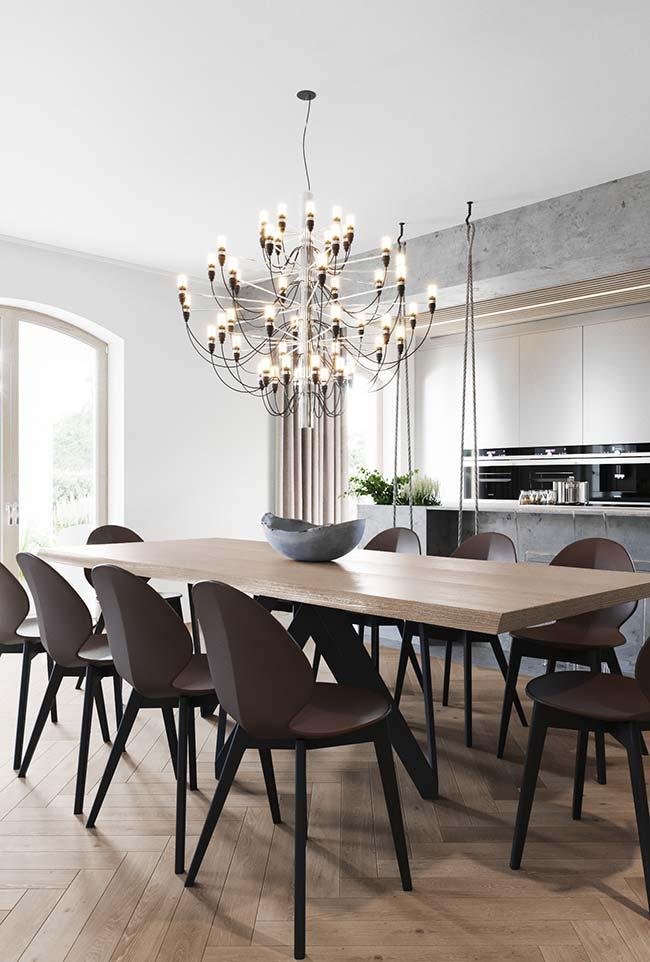 Salas de jantar: releitura de um lustre clássico para a sala de jantar moderna
