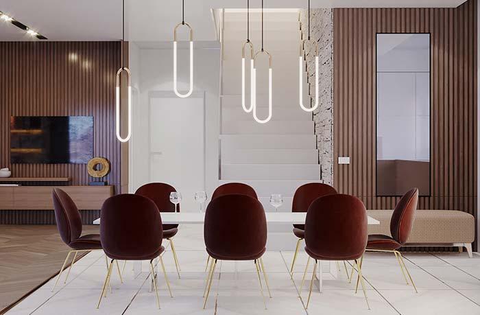 Salas de jantar: para os amantes de uma decoração elegante, clássica e requintada, essa é uma ótima inspiração