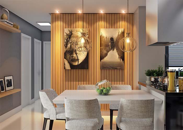 Luzes indiretas, como essa da imagem, são grandes aliadas de um jantar especial e intimista