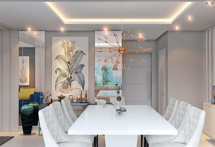 Quadros também são uma ótima opção para decorar a salas de jantar