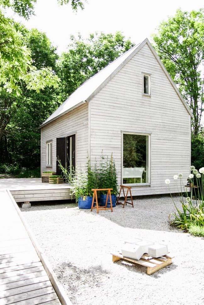 Casa de madeira barata