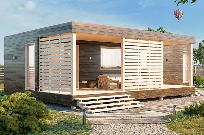 Casa barata pequena pré-moldada de madeira