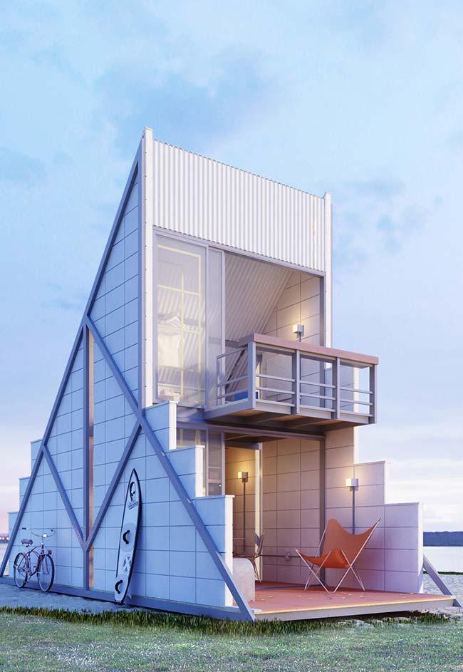 Casas de estrutura pré-fabricada em concreto