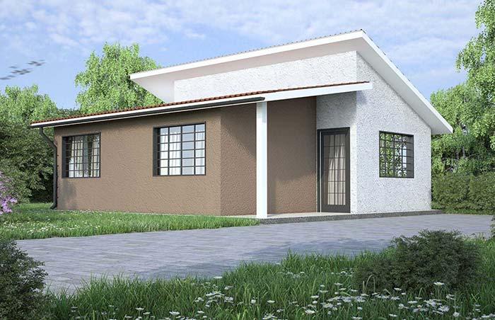 Casas baratas: veja 60 modelos baratos de se construir com fotos