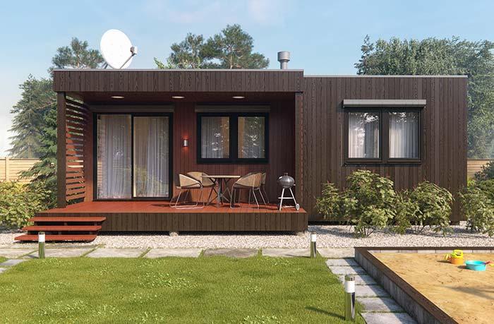 Casa barata marrom
