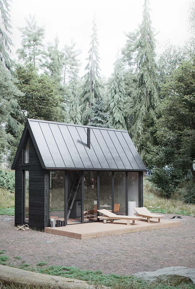 Casa barata em meio a natureza