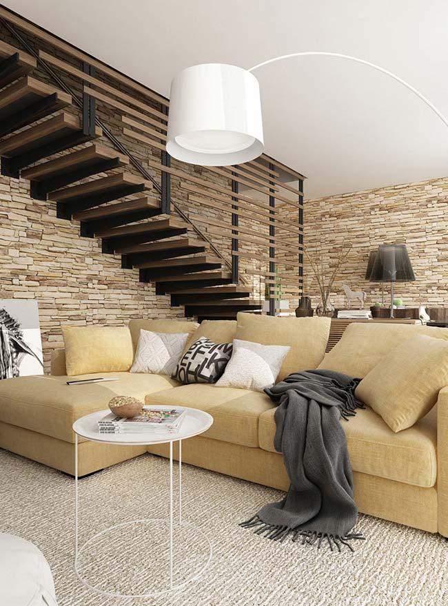 Pedras decorativas: ao invés de uma, duas paredes