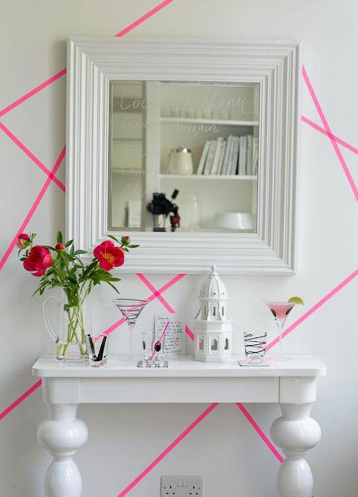 Decoração com fita isolante: linhas nunca são demais quando o assunto é decoração com fita isolante