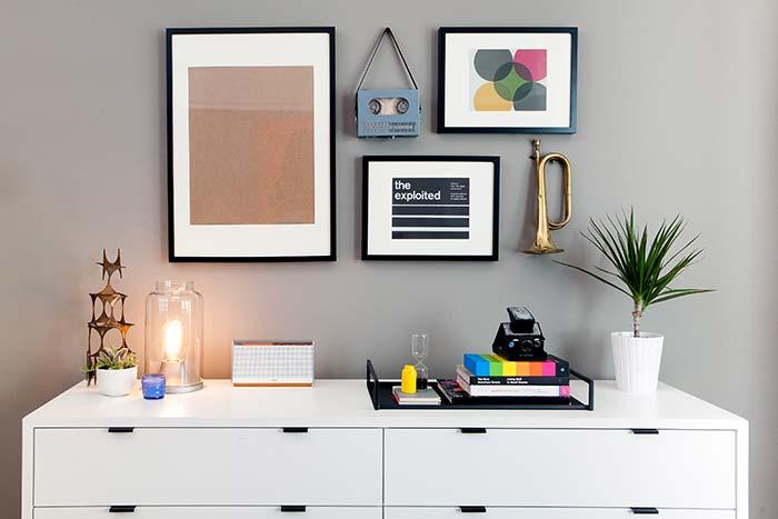 Decoração com fita isolante preta e branca: combinação perfeita