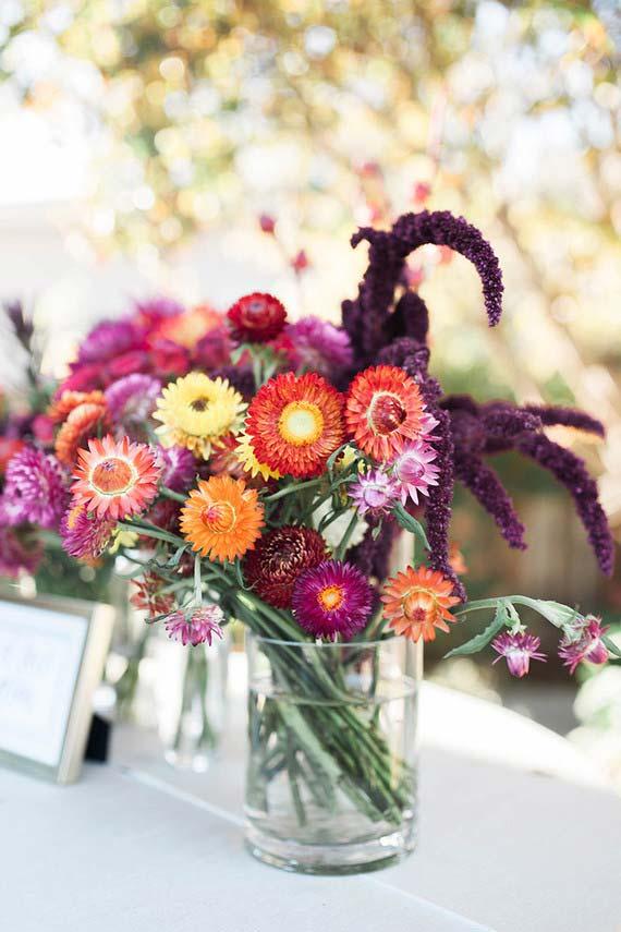 Flores para casamento: O colorido está garantindo com o arranjo de gérberas